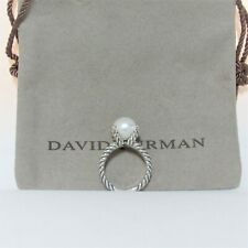 David Yurman Ring Cable Pearl With Diamond Size 6.5