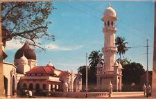 Malaysia Postcard MUSLIM MOSQUE Prayer Tower Pitt Street Penang Malaya ASMK