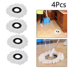 4x Spin Mop Heads Replacement 360 Degree Microfiber Bucket Home Cleaner Cleaning
