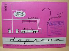 CATALOGUE DEPREUX 1964 EN 6 COPIES COULEURS A4 GARAGE VROOM