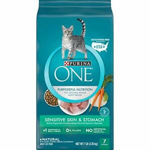 Purina ONE Natural Dry Cat Food, Sensitive Skin & Stomach  - 7 lb. Bag
