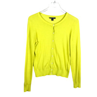 Tommy Hilfiger Women Sweater Size S Yellow Button Down Cardigan Long Sleeve