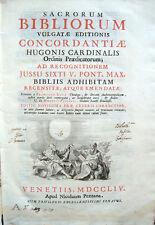 1754 – SACRORUM BIBLIORUM VULGATAE EDITIONIS CONCORDANTIAE – BIBBIA CONCORDANZE