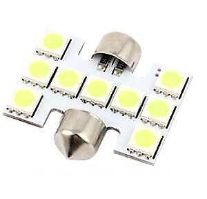2pcs - SMD 9-LED 31mm Festoon Bulb LED Map Dome Room Light 3021 3022 3175