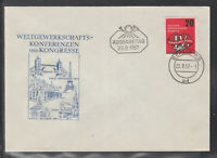Germany GDR nice FDC from 1957 World union conferences