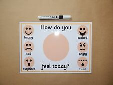 Emotions/Feelings - How do you feel today? Reusable Mat -  AUTISM/ASD/SEN/EYFS