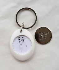 Parson Russell Terrier Trolley Coin Token Keyring by Curiosity Crafts