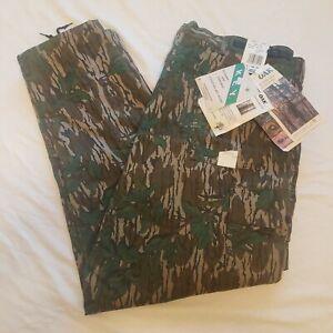 NOS 1986 Mossy Oak Green Leaf Camo Mens XXL Pants Cargo Adjustable Waist w/Tags!