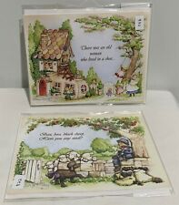 Flower Soft NURSERY RHYMES Card Toppers Paper Pages Kit Lot of 2