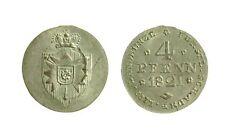s46_32)  German States SCHAUMBURG-LIPPE 4 Pfennig KM# 31.1 1821