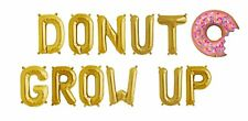 "DONUT GROW UP Letter Balloons - 36"" Donut Balloon - Donut Birthday - US SHIP"