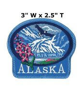 National Park Badge Patch Alaska Travel State Park Embroidered Iron / Sew-on