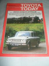 Toyota Today magazine brochure Autumn 1985