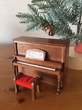 Miniature Upright Piano & Bench