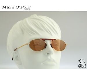 Marc O'Polo by Metzler 3316 689 Vintage 90s gold small oval sunglasses