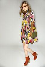 KAREN WALKER Brand Mustard Multi Silk Univeral Dress Size 6 BNWT #TL54