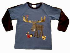Hanna Andersson 110 cm 5 Boys Long Sleeve T Shirt Top Cotton Moose Acorn Fall