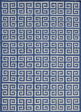 Jaipur Rugs Flat Weaves Brilliant Blue 4X6 Feet Wool Modern Geometric Area Rug
