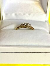 Pretty & Dainty 9ct Gold - Diamond Engagement / Dress Ring