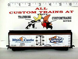 HO CUSTOM LETTERED WHITE CASTLE FREIGHT CAR BOXCAR COLLECTIBLE REEFER LOT PG 12