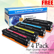 4-Pk Toner Set for HP 125A Color LaserJet CP1215 CP1515n CM1312 CP1518ni CB540A