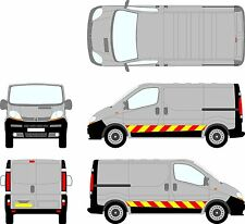 Reflective Side Chevron Stripe Vivaro / Traffic Van SWB Graphic Decal