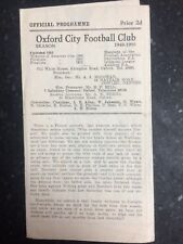 Oxford City v Corinthian Casuals - 4th March 1950 Programme