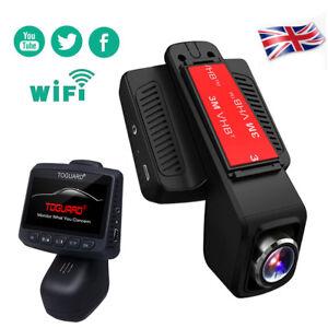 "TOGUARD Dash Cam 2.45"" FHD 1080P WiFi Car Dashboard Camera Stealth DVR Recorder"