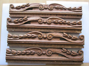 4 antiques french pediments   super woodcarving