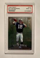 PEYTON MANNING 1998 Finest with Coating, Rookie Card RC, PSA 9 Mint