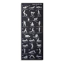 Black 28 Position Exercise Yoga Mat 6mm Thick Fitness Matt non-Slip 173cm x 60cm