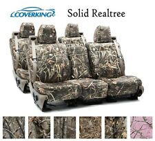Coverking Custom Seat Covers Neosupreme Front Rear Row - Solid Realtree Camo