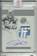 2017 NATIONAL TREASURES PATCH AUTO PLATE LaDAINIAN TOMLINSON 1/1 CHARGERS