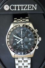 RARE CONDITION DISPLAY DEMO CITIZEN BLK/BLK WR100 CHRONOGRAPH WATCH + BOX SET