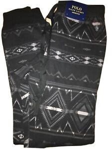 NWT Ralph Lauren Polo Men's Black Gray Southwest Aztec Casual Jogger Pant Sz M