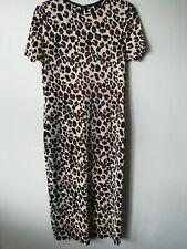 Ladies Leopard Print Plisse Midi Dress RIVER ISLAND 16 BNWT