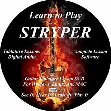 Stryper Guitar TAB Lesson Software CD 48 Songs!