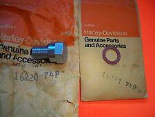 AERMACCHI HARLEY AMF 16220-74P CYLINDER HEAD PLUG & GASKET 74-78 SS SX 175 250