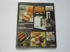 BRAUN MULTIPRACTIC PLUS COOK BOOK 1981 Vintage Recipe Book