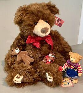 """EWAN"" RUSS BEARS FROM THE PAST 16"" Russell Berrie  +3 Russ Mini Bears        #3"