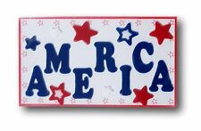 America Red White Blue 4th of July Patriotic Window Gel Clings Decoration Pride