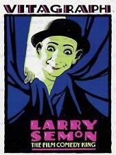 Anuncio etapa actor de cine era silenciosa Larry Semon comedia Rey Payaso cartel BB7643