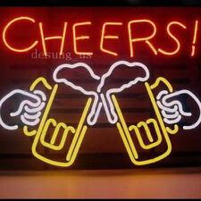"""New Cheers Beer Beer Bar Open Lamp Light Artwork Neon Sign 24""""x20"""""""