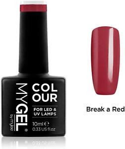 MYGEL by Mylee Nail Gel Polish 10Ml [Break a Red] UV/LED Soak-Off Nail Art Manic