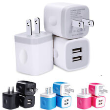 3pcs 2.1A Dual Port USB Wall Charger Phone Charging Base Cube Charger Universal