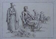 Gravure XVIIIe, François Boucher, Bloemaert, Engraving 18th, Incisione Radierung