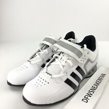 d5dfe4707af6 Adidas AdiPower Men s 15 Weightlifting Powerlift Trainer Shoes White M25733  DS