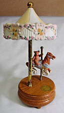 Willitts Designs Porcelain Carousel Horse Wood Base with Music Box 4085