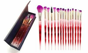 Professional Rainbow Makeup Brushes (15-Piece) with box