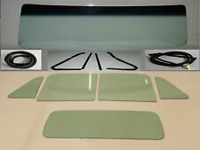 Green Glass 1954 Chevy GMC Pickup Windshield Vent Door Back Seals w/o Chrm Tape